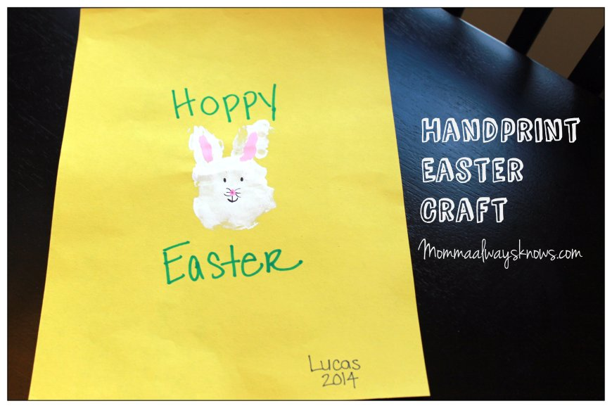 Handprint Easter Art