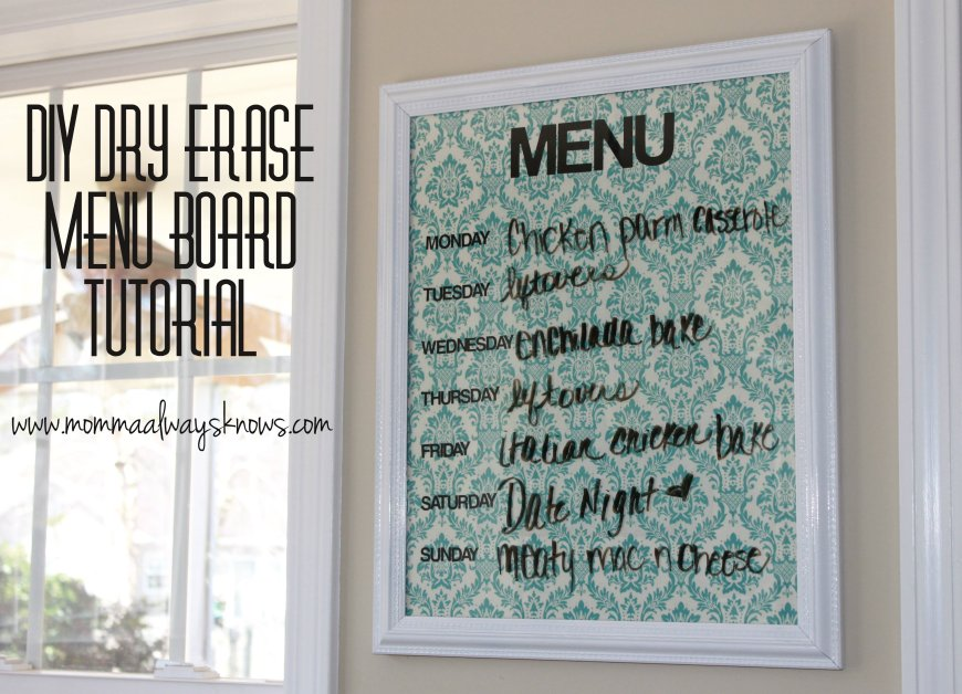 DIY Dry Erase Menu Board Tutorial