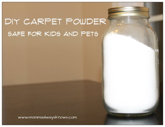 DIY Carpet Powder with Essential Oils