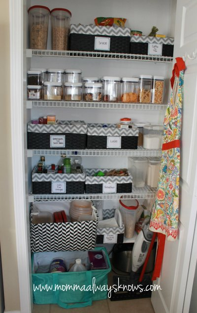 After - Organized Pantry