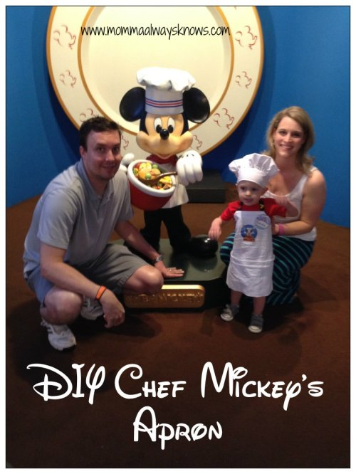 DIY Chef Mickeys Apron