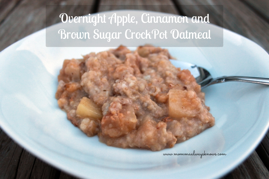 Overnight Apple Cinnamon and Brown Sugar Oatmeal