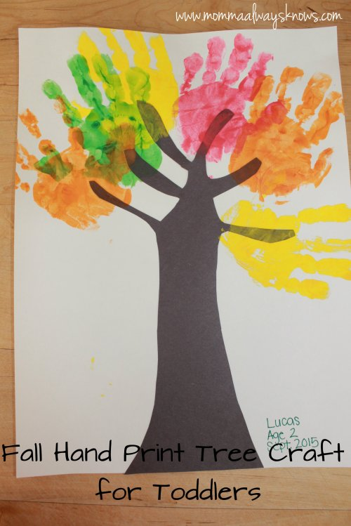 Hand Print Tree Craft