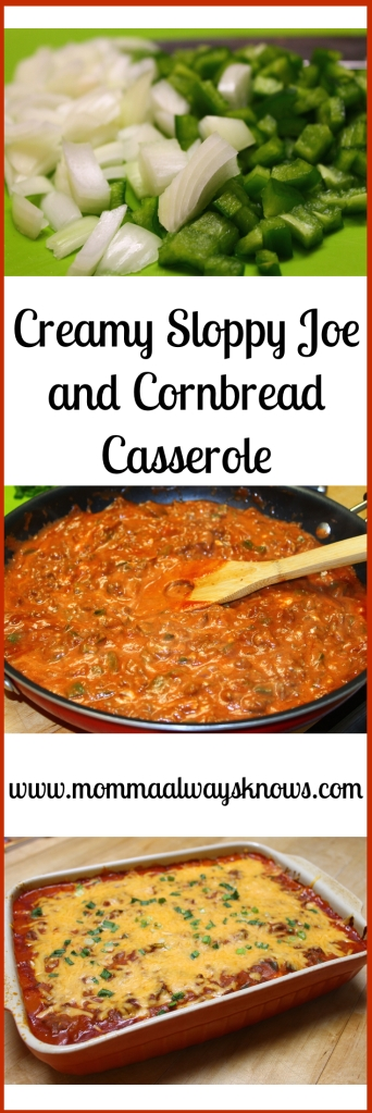 Sloppy Joe and Cornbread Casserole