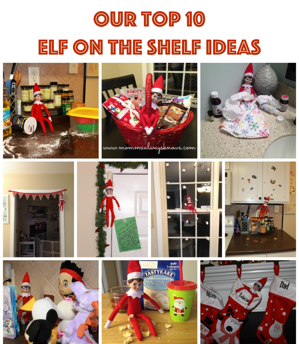 Our Top 10 Elf On The Shelf Ideas