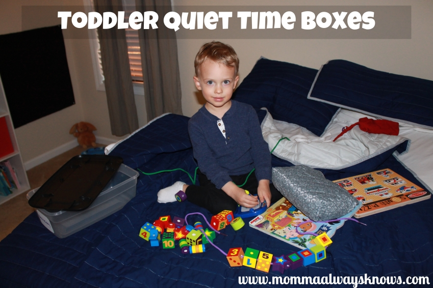 Todler Quiet Time Boxes
